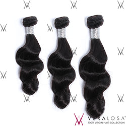 Vera Losa™ Virgin Human Hair 12+14+16 / Natural Color Vera Losa™ 8A Loose Wave - 3 Bundle Deals