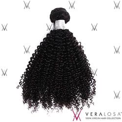 Vera Losa™ Virgin Human Hair 12+14+16 / Natural Color Vera Losa™ 9A Kinky Curly - 3 Bundle Deals