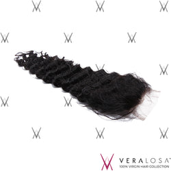 "Vera Losa™ Virgin Human Hair 12"" / Natural Color Vera Losa™ 4x4 Swiss Lace Closure - Loose Wave"