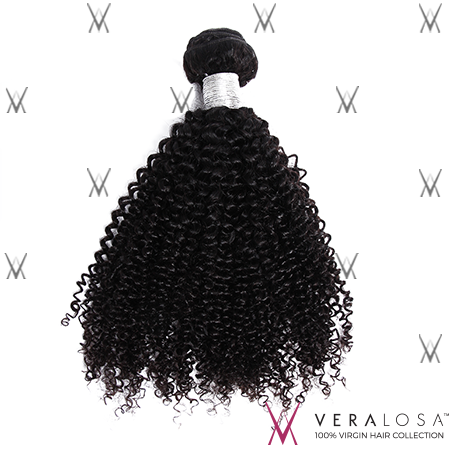 "Vera Losa™ Virgin Human Hair 12"" / Natural Color Vera Losa™ 9A Kinky Curly - 100% Brazilian Virgin Hair"