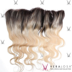 "Vera Losa™ Virgin Human Hair 14"" / #1B/613 Vera Losa™ Pre-Bleached 13x4 Lace Frontal - Body Wave #1B/613"