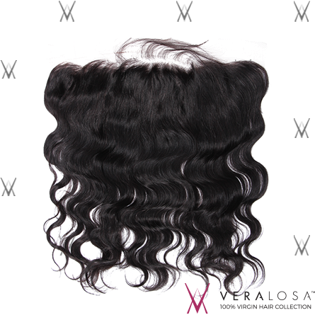"Vera Losa™ Virgin Human Hair 14"" / Natural Color Vera Losa™ 13x4 Lace Frontal - Body Wave"