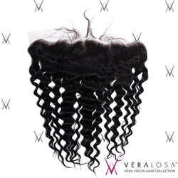 "Vera Losa™ Virgin Human Hair 14"" / Natural Color Vera Losa™ 13x4 Lace Frontal - Deep Wave"