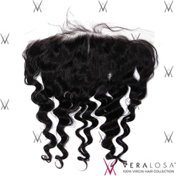 "Vera Losa™ Virgin Human Hair 14"" / Natural Color Vera Losa™ 13x4 Lace Frontal - Loose Wave"