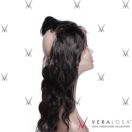 "Vera Losa™ Virgin Human Hair 14"" / Natural Color Vera Losa™ 360 Lace Frontal - Body Wave"