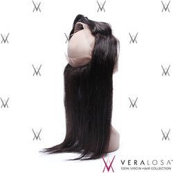 "Vera Losa™ Virgin Human Hair 14"" / Natural Color Vera Losa™ 360 Lace Frontal - Straight"