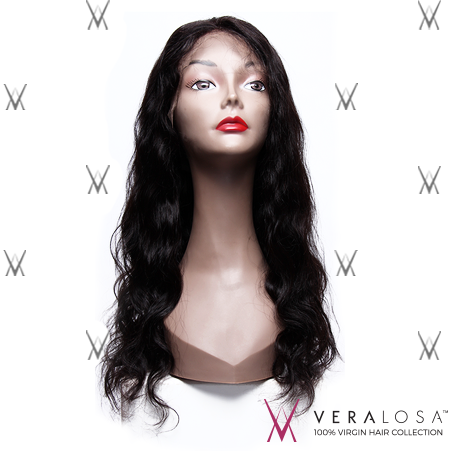 "Vera Losa™ Virgin Human Hair 14"" / #Natural Color Vera Losa™ Full Lace Wig - Body Wave"