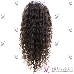 "Vera Losa™ Virgin Human Hair 14"" / #Natural Color Vera Losa™ Full Lace Wig - Deep Wave"