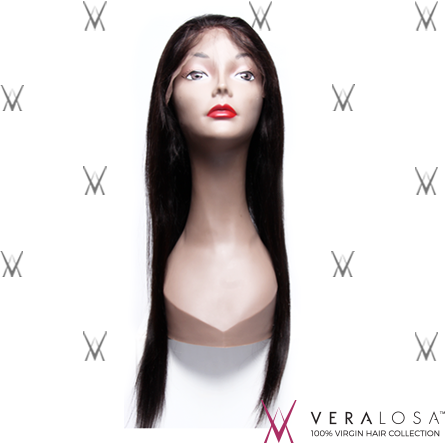 "Vera Losa™ Virgin Human Hair 14"" / #Natural Color Vera Losa™ Full Lace Wig - Straight"