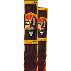 Zury Crochet Hair #1 Zury Goddess Loc Loose Wave 18""