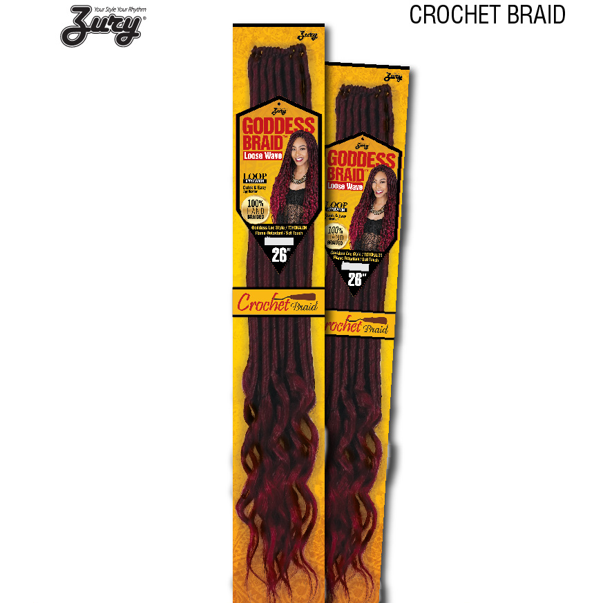 Zury Crochet Hair #1 Zury Goddess Loc Loose Wave 26""