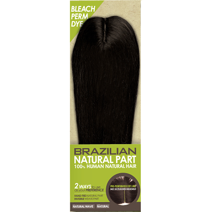 Zury Hair Pieces Natural Unprocessed ZURY Brazilian Natural Part Closure <br> 100% Human Natural Hair