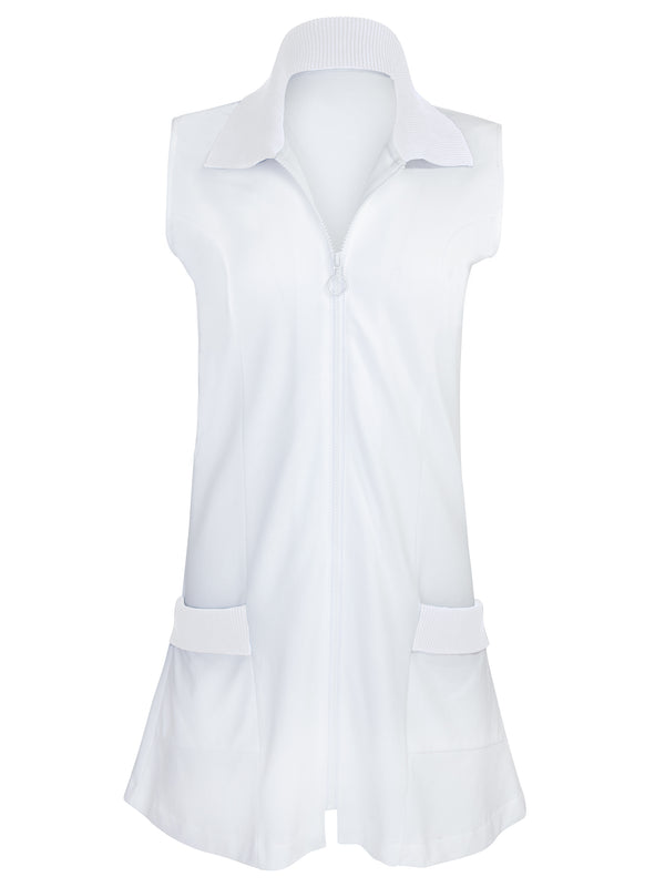 The Maggie Dress All White