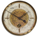 Uttermost Leonardo Script 18`` Cream Wall Clock