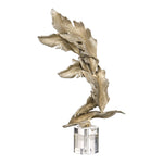 Uttermost Fall Leaves Champagne Sculpture