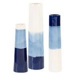 Uttermost Sconset White & Blue Vases, S/3