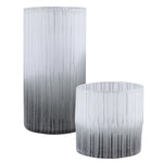 Uttermost Como Etched Glass Vases, S/2