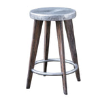 Uttermost Maxen Hammered Top Counter Stool