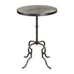 Uttermost Janine Aged Black Accent Table