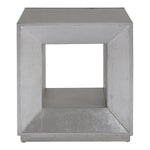 Uttermost Flair Silver Cube Table