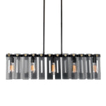 Uttermost Everly 5 Light Smoke Glass Island