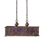 Uttermost Albiano Rectangle 2 Lt Bronze Pendant
