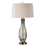 Uttermost Durazzano Gray Glass Table Lamp