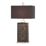 Uttermost Olavo Etched Dark Bronze Lamp