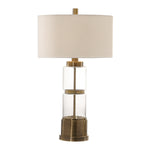 Uttermost Vaiga Glass Column Lamp