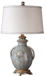 Uttermost Cancello Blue Glaze Lamp