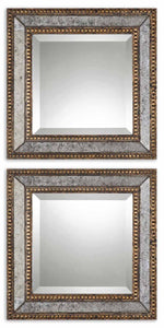 Uttermost Norlina Squares Antique Mirror Set/2
