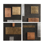 Uttermost Mixed Metals Wall Art, S/4