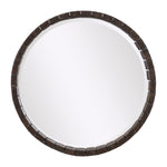 Uttermost Islay Dark Oak Round Mirror