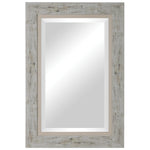 Uttermost Branbury Rustic Light Wood Mirror
