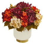 Nearly Natural Autumn Hydrangea Berry Artificial Arrangement