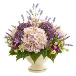 Nearly Natural 32`` Hydrangea, Lavender and Mixed Flower Artificial Arrangement