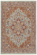 Kaleen Rila Collection Light Blue 9`6`` x 13` Rug Rectangle