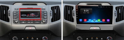 Radio KIA Sportage 2010 2011 2012 2013 2014 2015 Full Screen - Part Auto Portugal