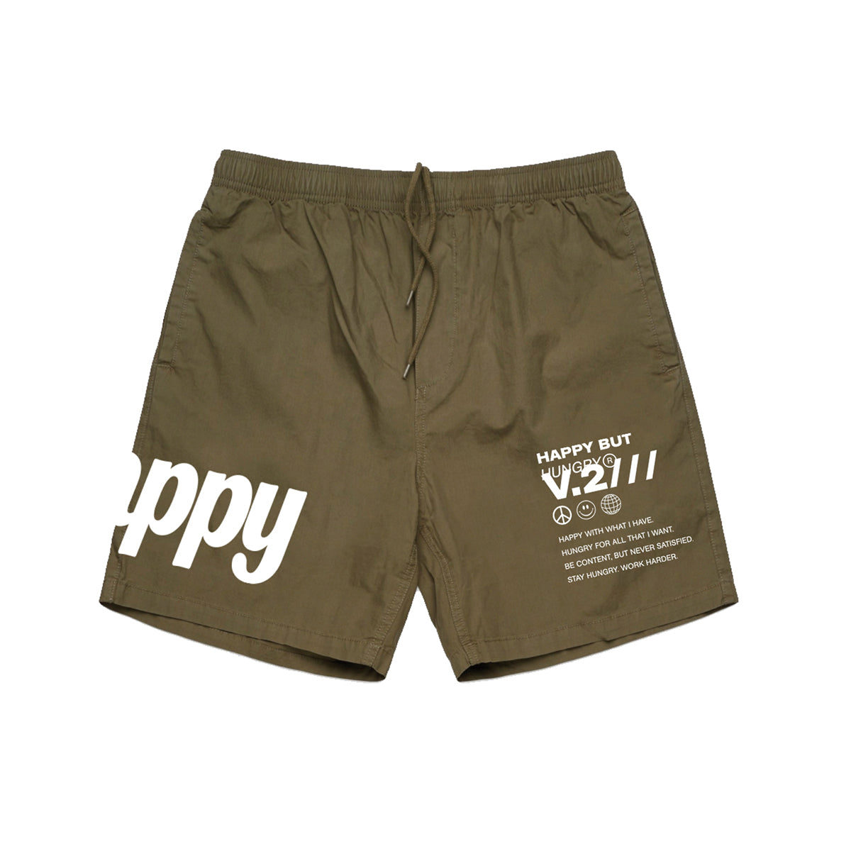 Happy Hungry Shorts - Green