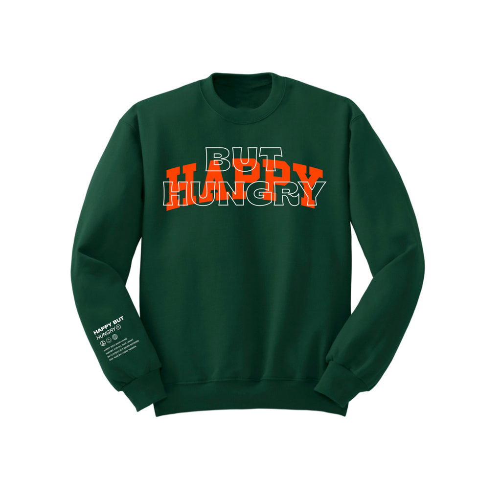 Happy Crewneck Forest Green
