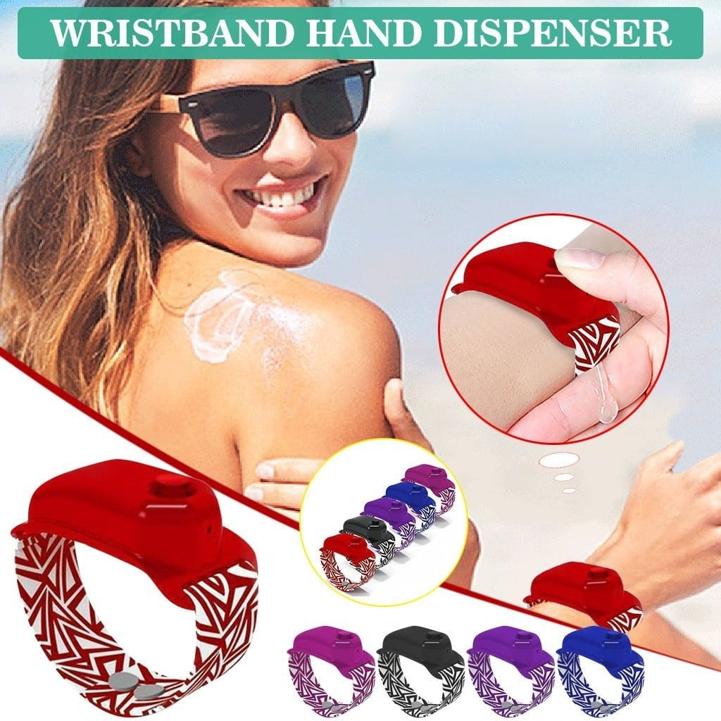 New Hand Sanitizer Bracelet 10ml Mini Dispensing Portable Solid Bracelet Wristband Silicone Protective Hand Dispenser Wholesale Purple DISCOUNT