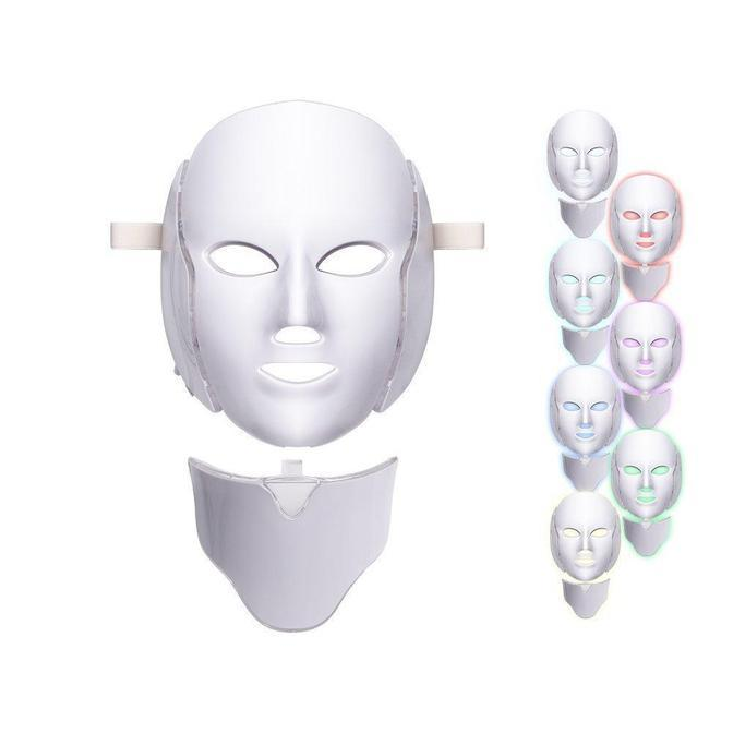 Professional 7 Colors LED Face Mask for Facial and Neck Skin Rejuvenation Anti Aging Light Photon Therapy Beauty Led Facial Mask