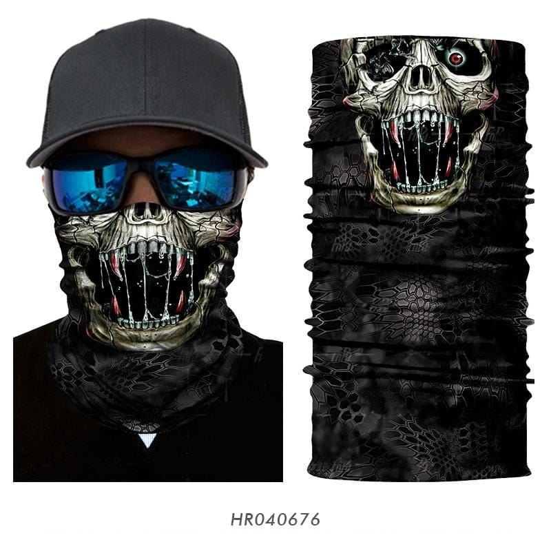 Custom Face Covering Balaclava Magic Scarf Neck Face Cover HR040676 / One Size DISCOUNT