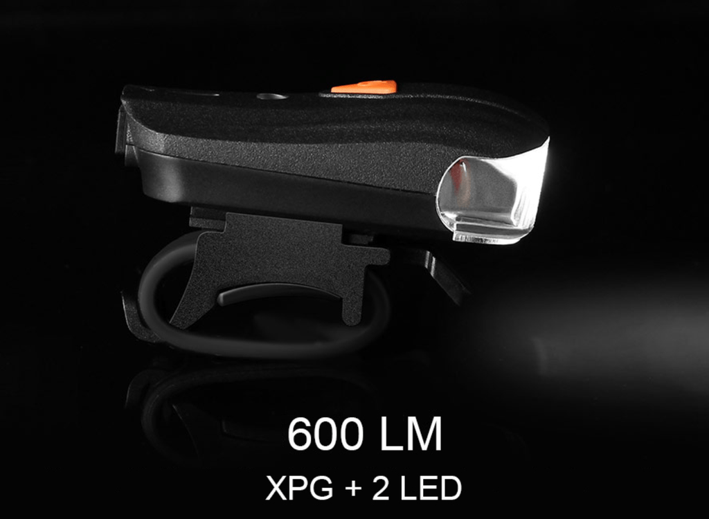MarvelActive™ 600LM XPG + 2 LED Bicycle Smart Sensor Warning Front Light