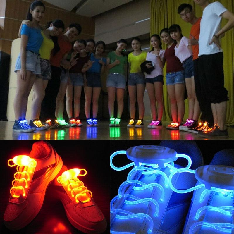 LED Light Up Shoestring Glowing Shoelaces, Novelty Party Dress Decor DISCOUNT