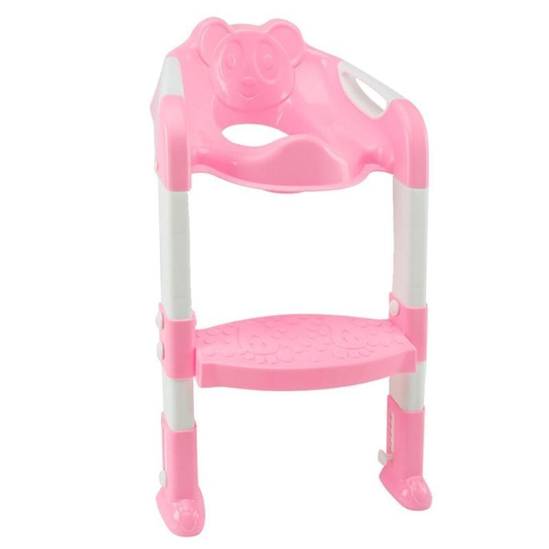 High Quality Folding Baby Potty Infant Toilet Training Seat With Adjustable Ladder Portable Baby & Kids Pink DISCOUNT