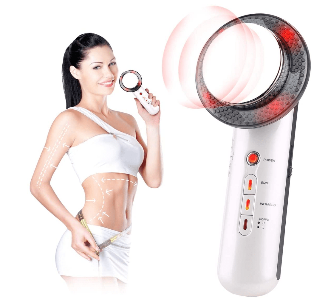 MarvelActive™ Ultrasonic Fat Cavitation Body Slimming Massager 3 In 1 Fat Burning Machine EMS Tens Electrode Pads Weight Loss Infrared Therapy Anti Cellulite