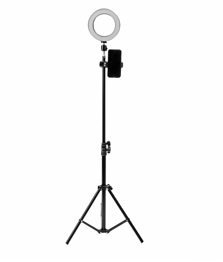 MarvelActive™ 16cm Ring Light with Tripod & Cell Phone Holder, Dimmable Led Camera Ring-light with Tripod Stand for Live Streaming Makeup YouTube Video Photography