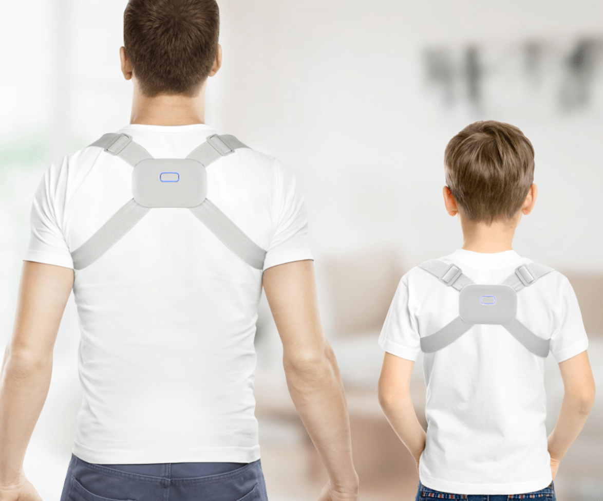Posture Corrector for Men, Women and Kids with Smart Sensor Vibration Reminder - Upper Spine Back Brace For Clavicle Support