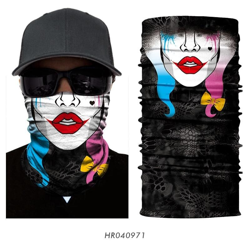 Custom Face Covers Balaclava Magic Scarf Neck Face Cover HR040971 / One Size DISCOUNT